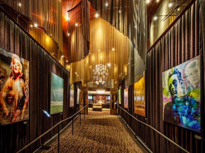 Fabricoil™ architectural coiled wire fabric system in iPic Theaters (Westwood)
