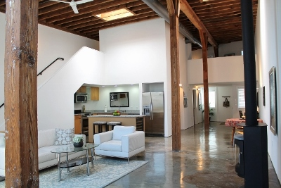 Trinity Lofts Living Room And Kitchen