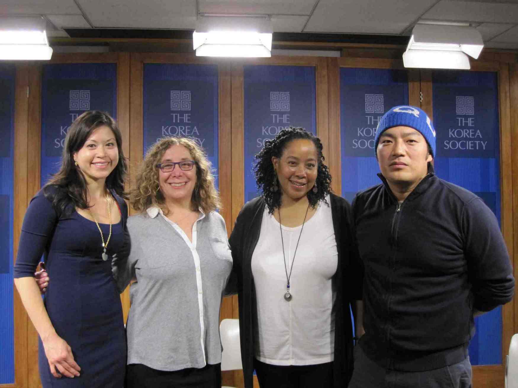 Willem Lee and Savanna Washington with Film Lab management
