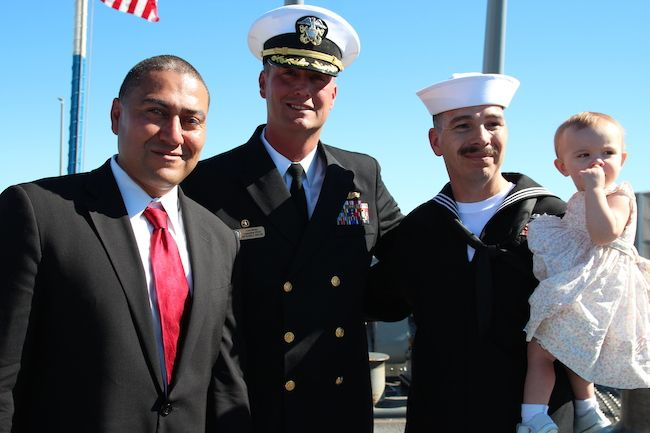 Dr. Robert Ornelas, Commander James W. Harney and Jeff Rangel