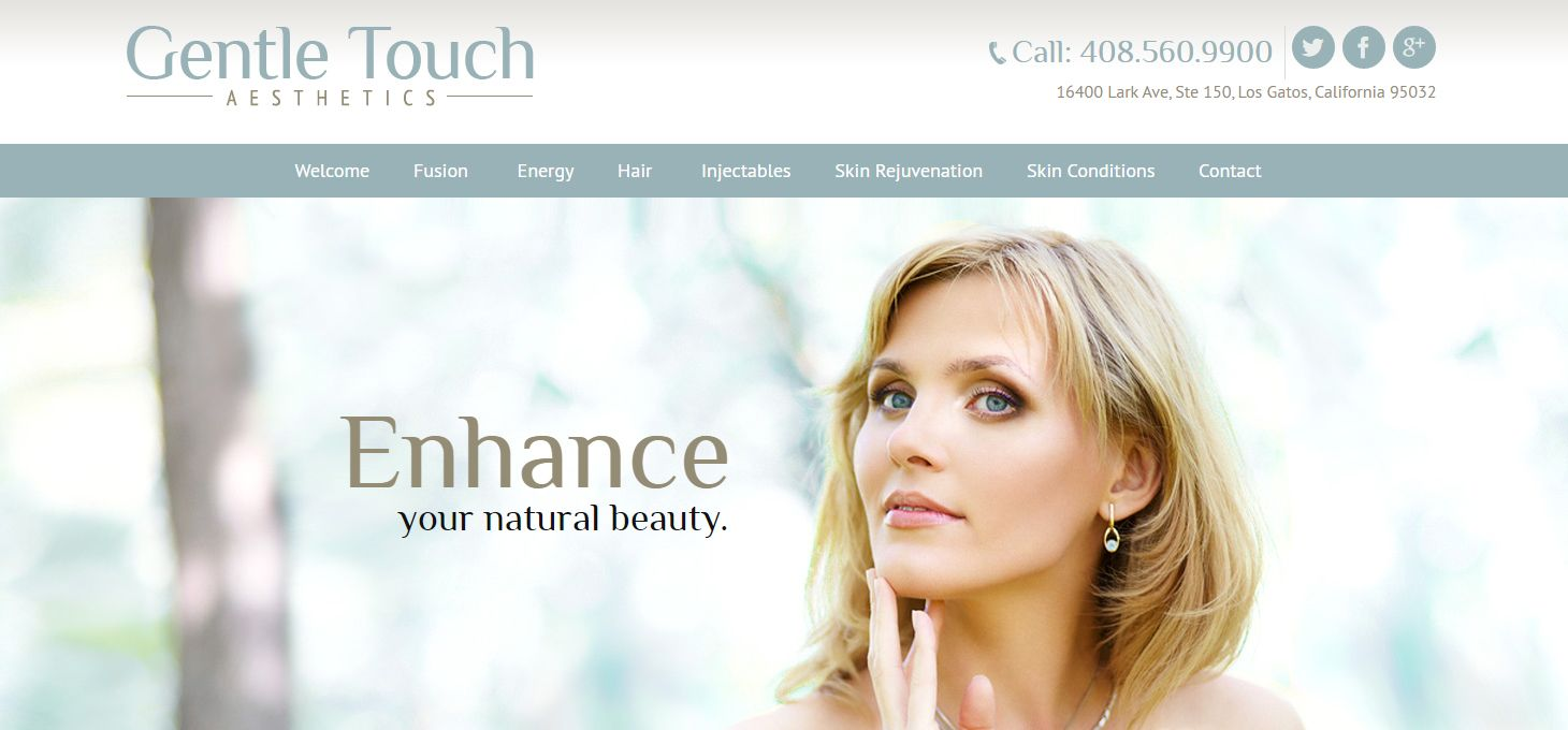 Gentle touch aesthetics launches new website mygentlemed for A gentle touch salon