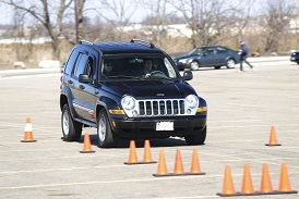 Panic breaking is just one exercise at the Drive Safer boot camp Nov. 23, 2014