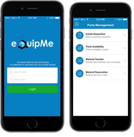 eQuipMe Oracle Mobile Application