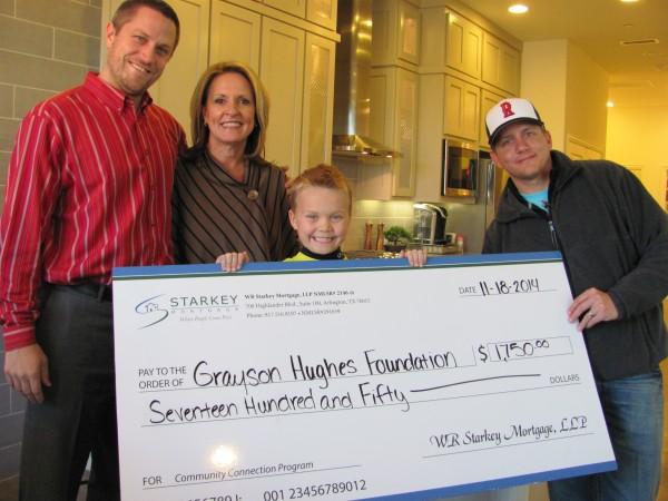 CB JENI/Normandy Homes and Starkey Mortgage Present Check to Grayson