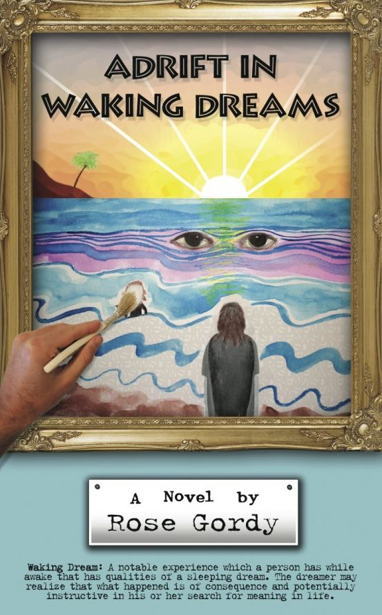 """Rose Gordy's """"Adrift in Waking Dreams"""" book cover"""