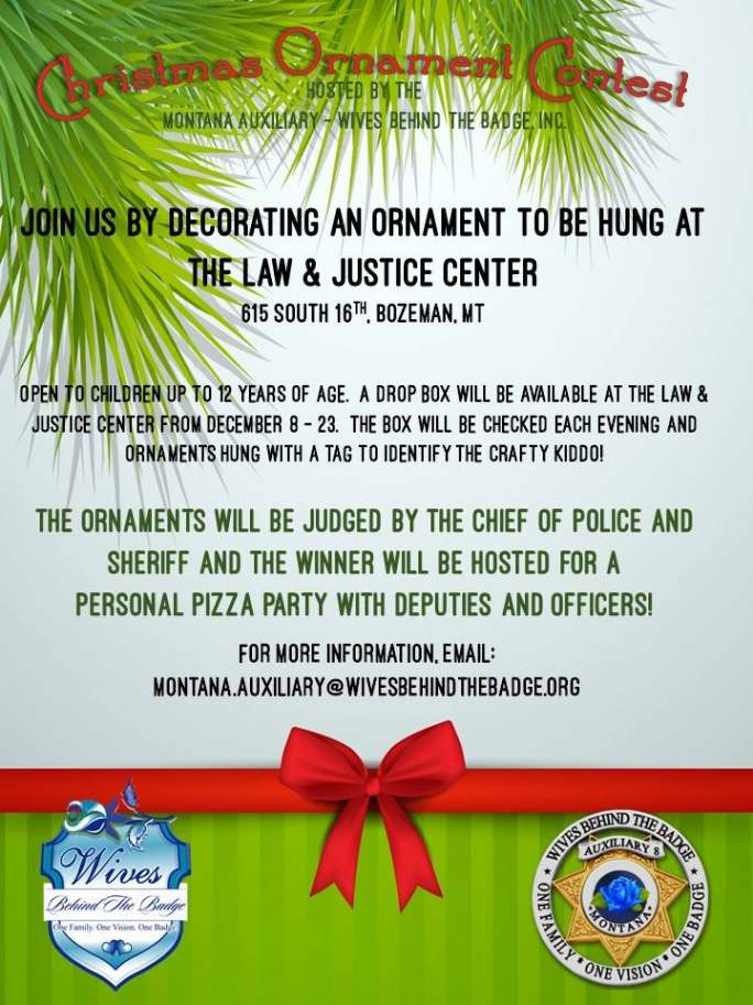 MT WBTB Ornament Contest 2014 - Montana Auxiliary Of Wives Behind The Badge, Inc. To Host A