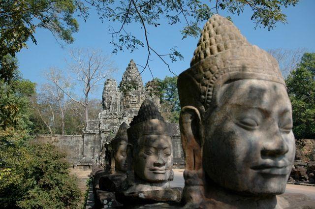 Entry Gate To Bayon, Angkor, Cambodia