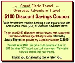 Grand Circle Travel Discount Code Overseas Adventure Travel Discount Code