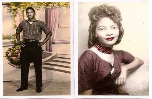 Sp5 Wyley Wright Jr.& Ouida F. Wright-photos hand painted in Saigon circa 1963.