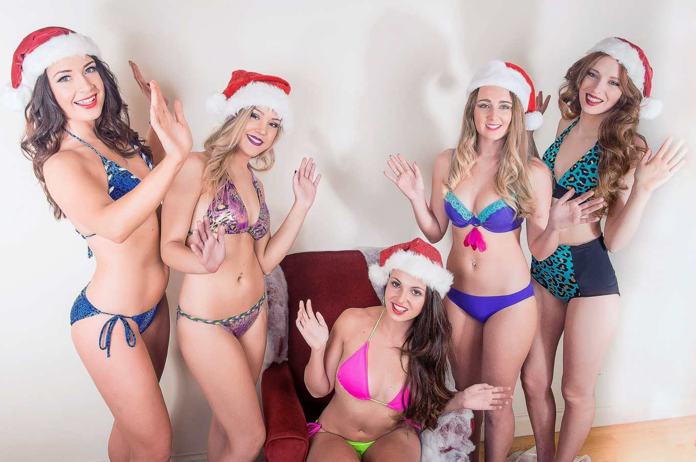 Bikini photo christmas