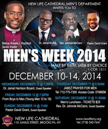 New Life Cathedral Men's Week 2014