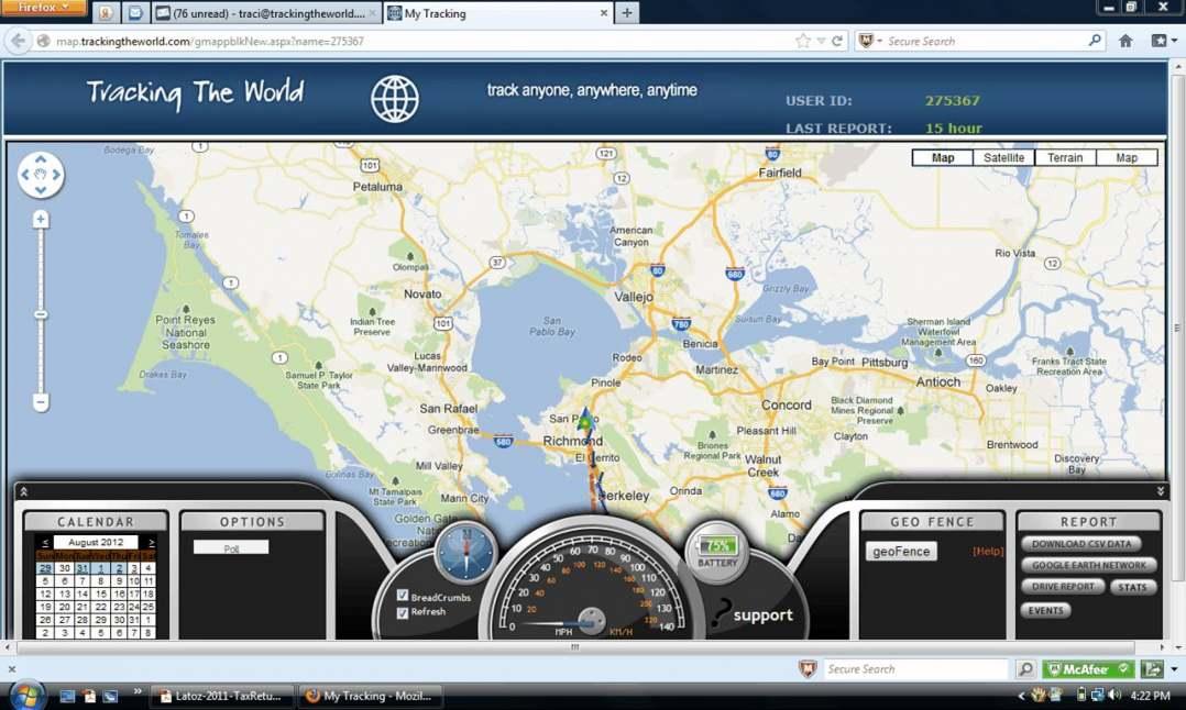 TrackingTheWorld GPS Tracking Software