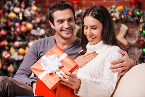 Image result for men giving gift to women