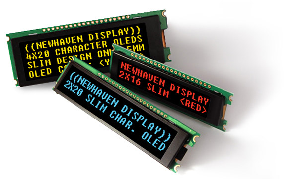 Newhaven Display Slim Character OLED examples