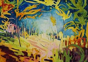 Journey Into Light.Marlene Rye.Oil on canvas.32 x 46