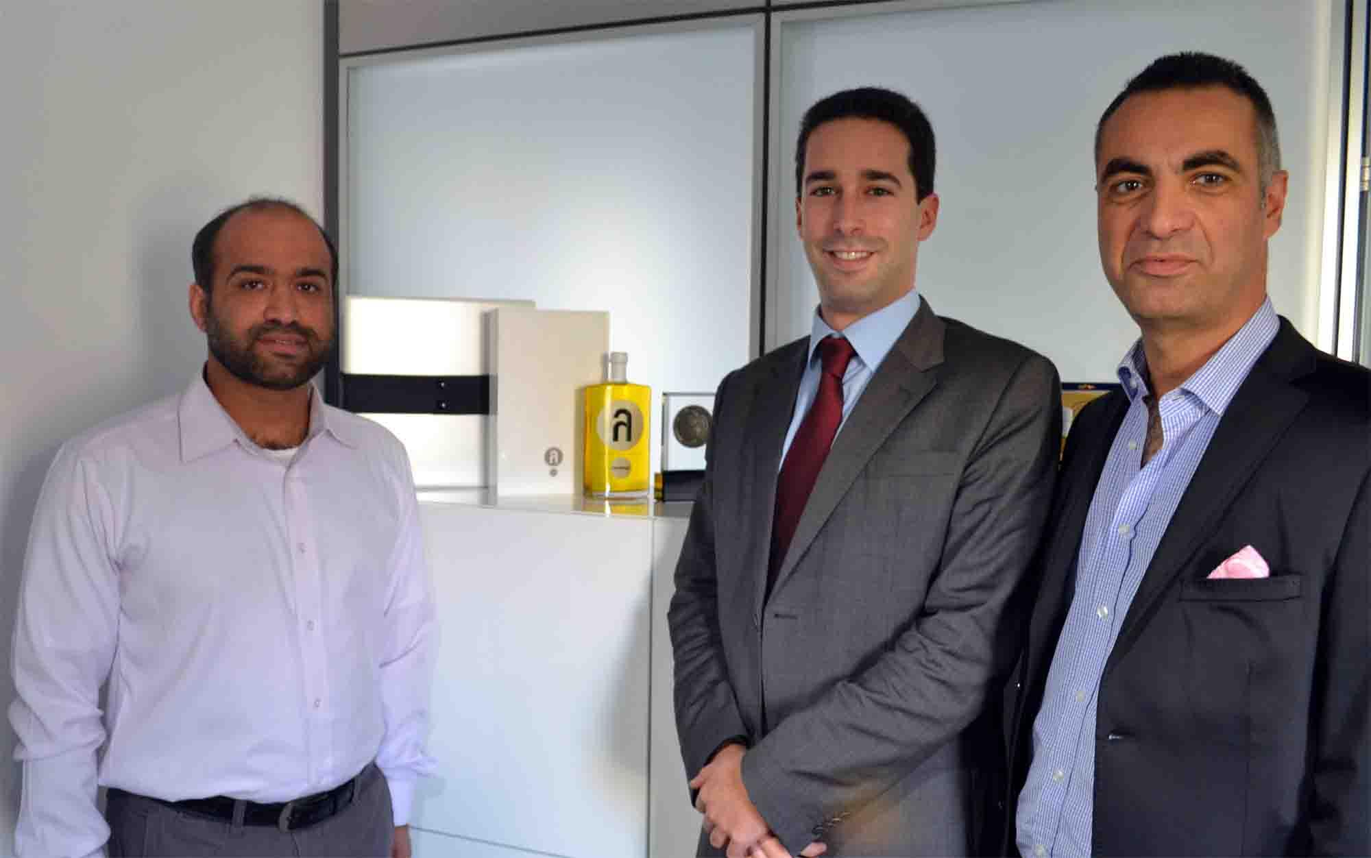 Mr. Al Kaabi of Majestic, Mr. Lyginos & Mr. Kolliopoulos of Speiron (l-r)