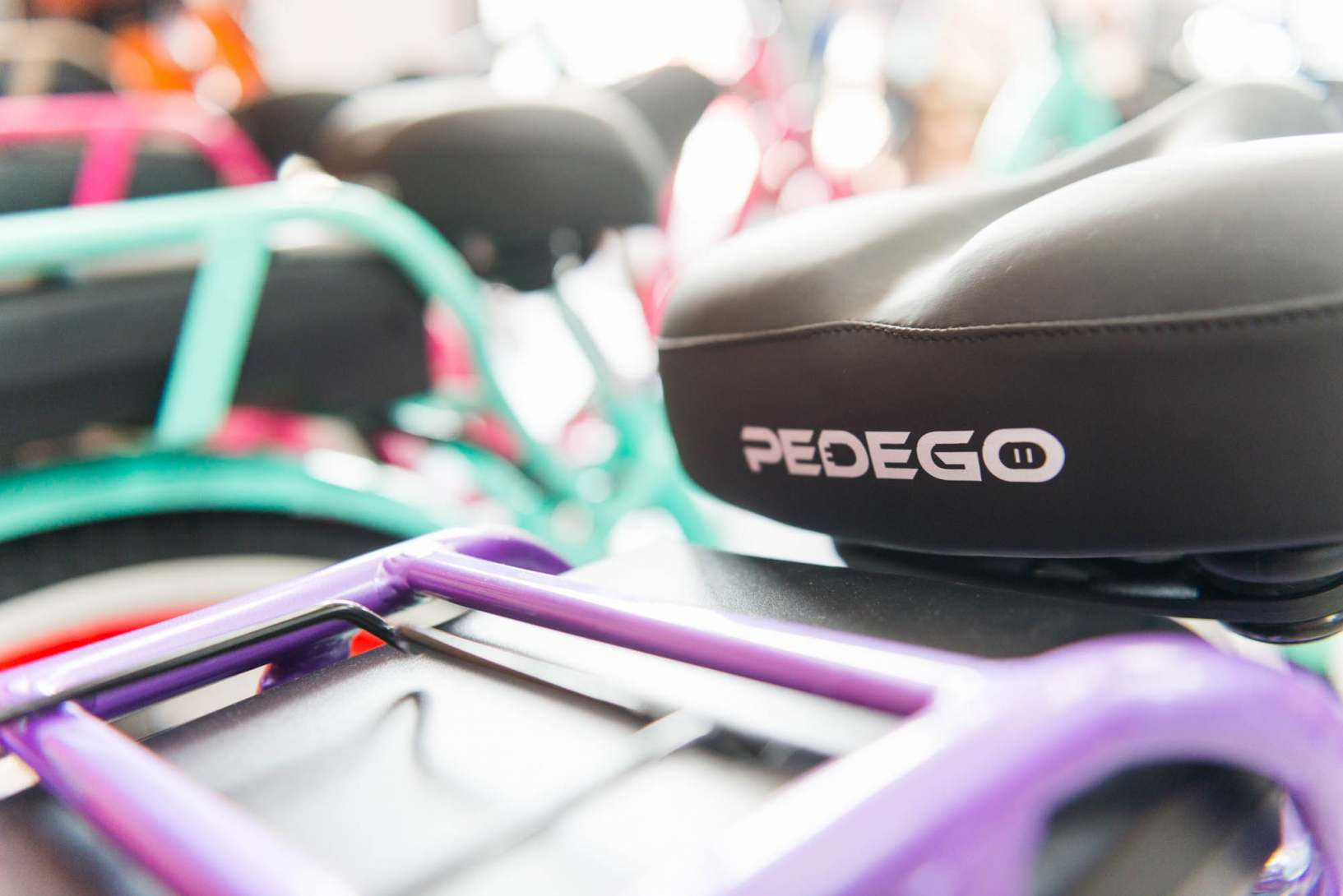 Pedego electric bikes come in many festive holiday colors.