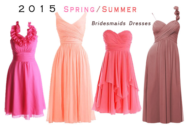 bright colors bridesmaids dresses for spring wedding from redbd