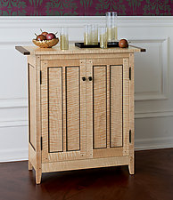 Tiger Maple Side Cabinet