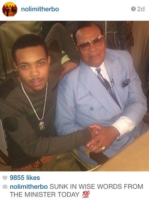 Artist Lil Herb & Minister Louis Farrakhan