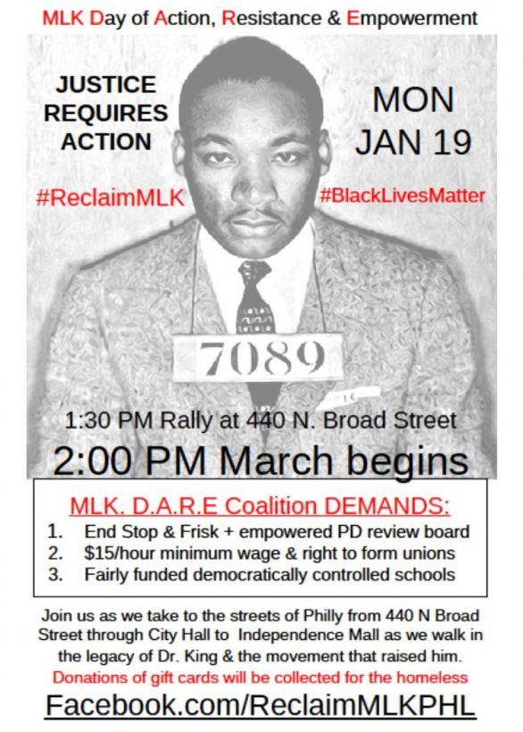 10,000 Expected at #ReclaimMLK Day Rally & March In Philadelphia