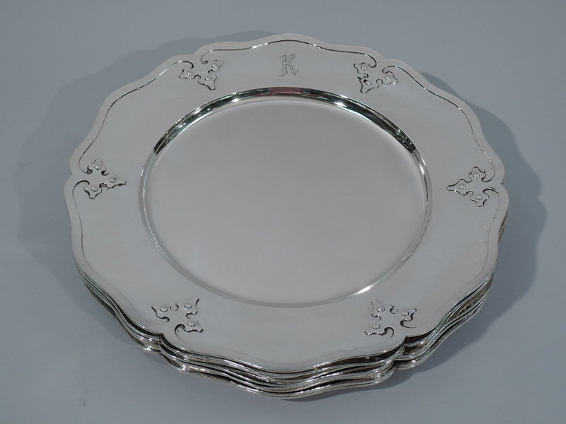 shreve hand hammered silver plate antique sterling