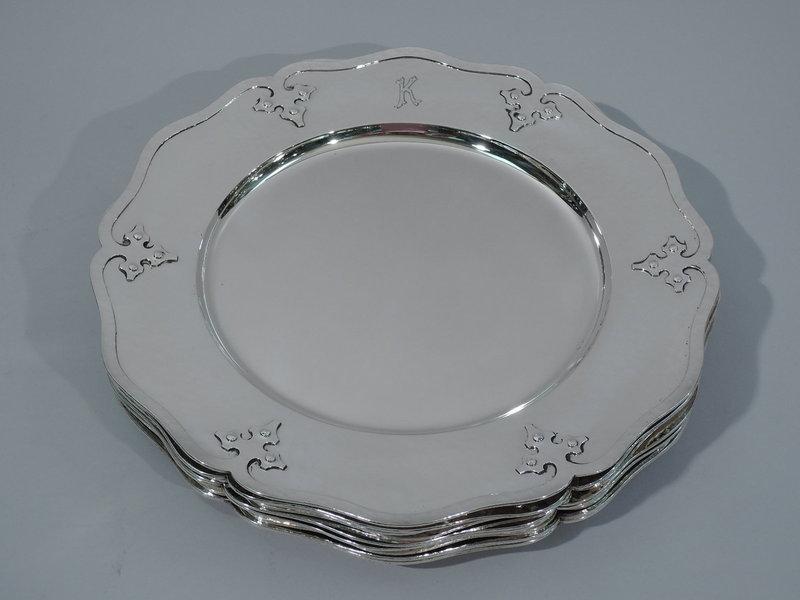 shreve hand hammered silver plate antique sterling