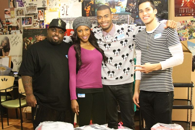 CeeLo Green, Gabrielle Dennis, and DJ Duo NovaStarz at CHLA