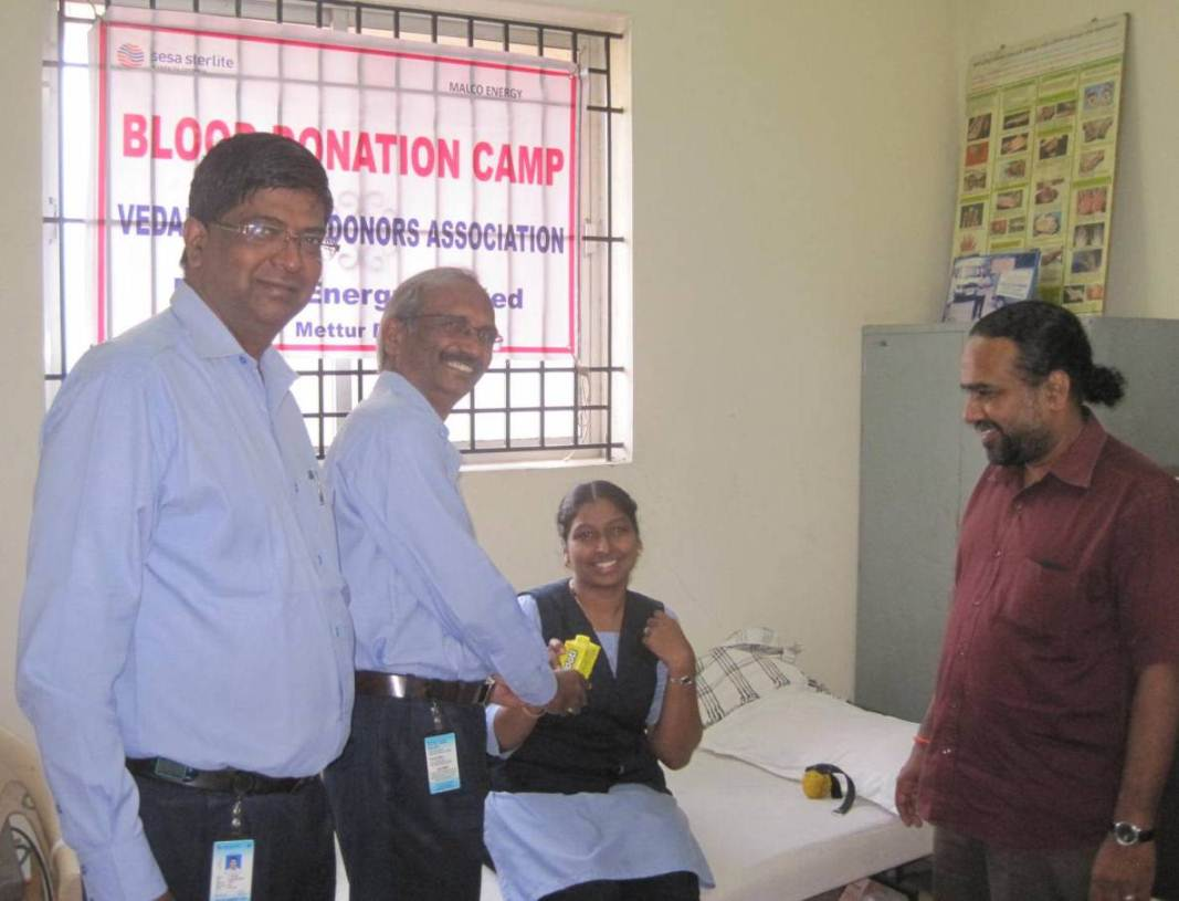 Blood Donation Camp, MALCO Energy Limited, Mettur