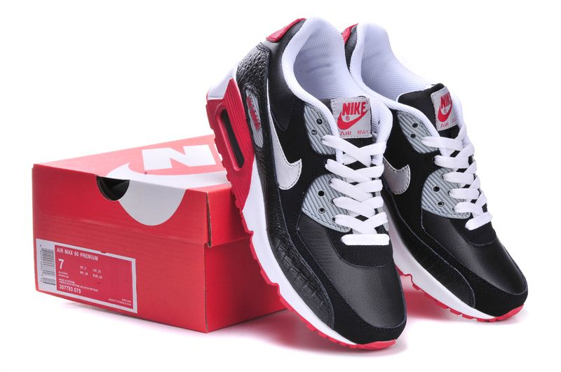competitive price 275f4 4e270 nike-air-max-90-mens-anthracite-grey-red-