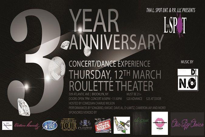 Tha L. Spot 3rd Year Anniversary Concert 3.12.15