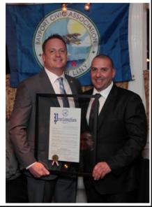 Seth needelman honored as bayport s 2015 civic pride award for Fish store bayport