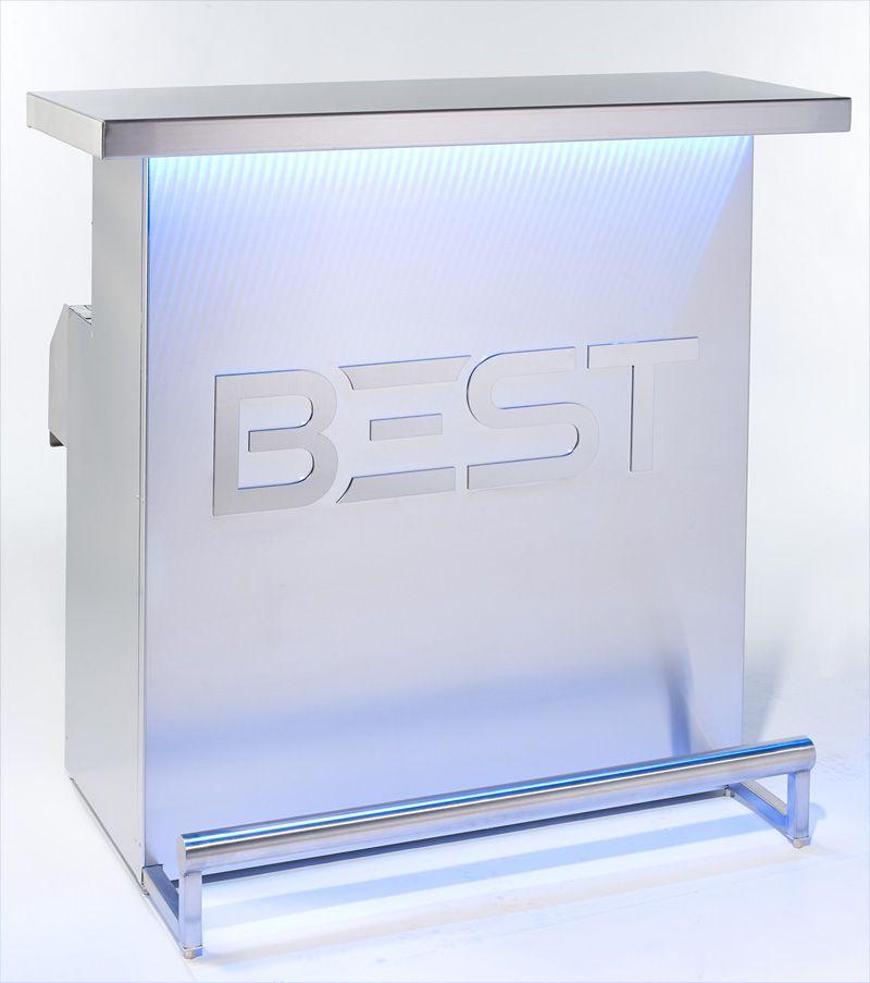Bar DELUX avec le logo de BEST et éclairage bleu 3d holographque