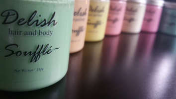 Delish Hair and Body collection of hair and body butters