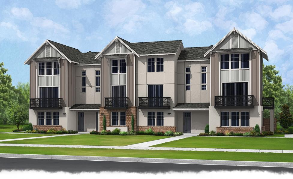 Brookfield residential to unveil trio at jordan ranch new townhomes receive feng shui blessing - Modern architectural trio ...