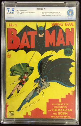 This copy of Batman #1 from 1940 could bring $100,000 or more on Feb. 15th.