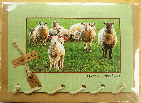HappyFarmingSheepGreetingCard