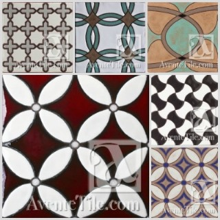 The Geometrical Ceramic Tile collection features hand-glazed, modern patterns.
