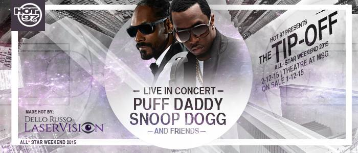 Puff Daddy and Snoop Dogg. Made Hot by Dello Russo