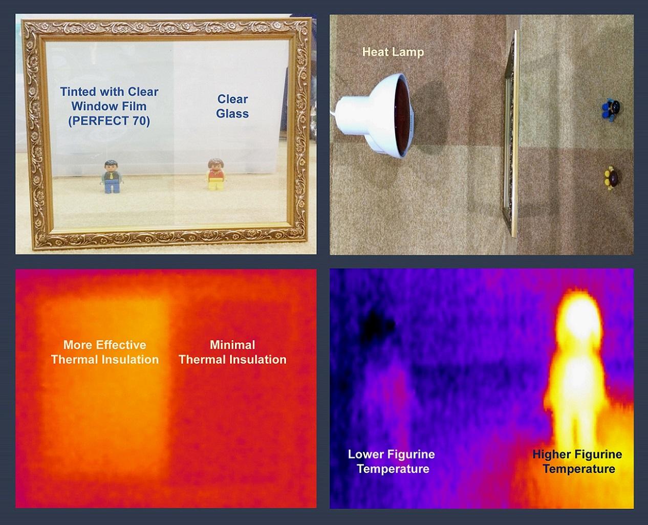 filmtack demonstrates window films heat reduction with thermal imaging technology filmtack. Black Bedroom Furniture Sets. Home Design Ideas