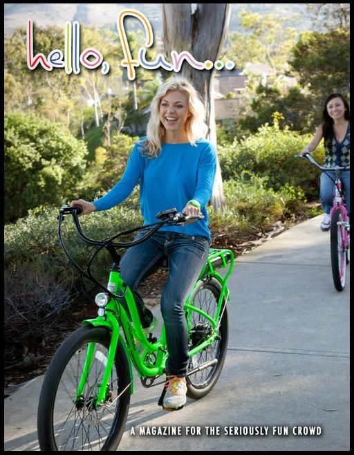 Pedego's magalog offers information and stories about the bikes and riders.