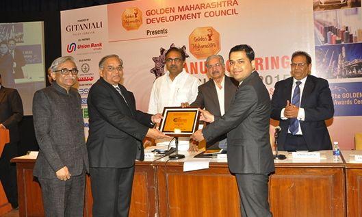 Award presented by Shri. Subhash Desai to HD Fire's MD, Mr. Harish Dharamshi