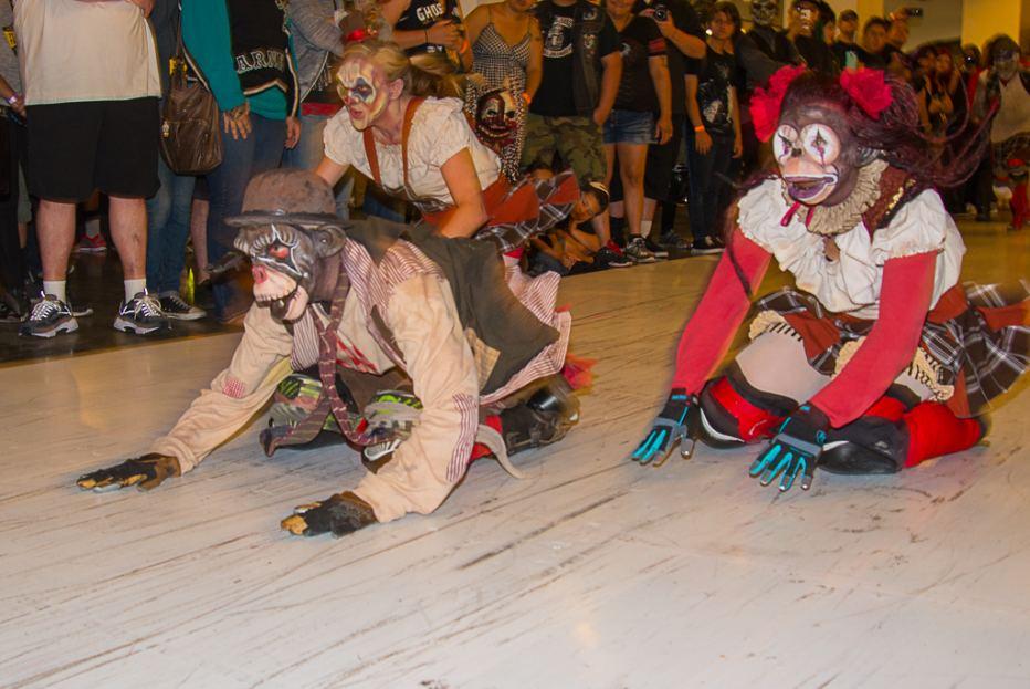 Sliders take the ScareLA stage (photo credit: Michael Wada)