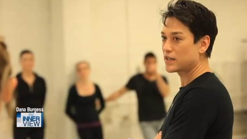 Dana Tai Soon Burgess choreographing in studio. (Photo from the INNERview)