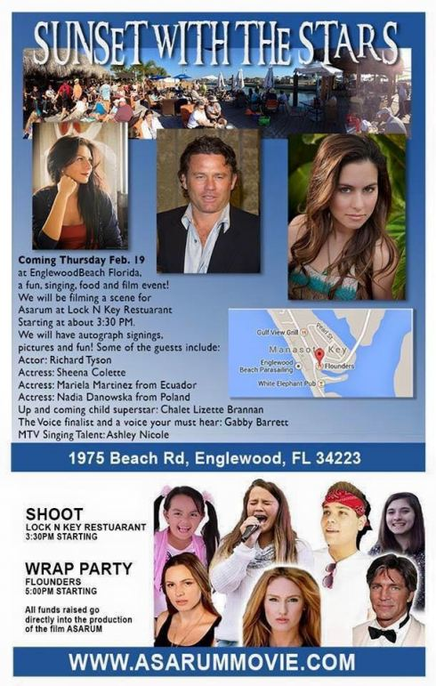 Asarum Filming & Wrap Party Englewood Fl 2015