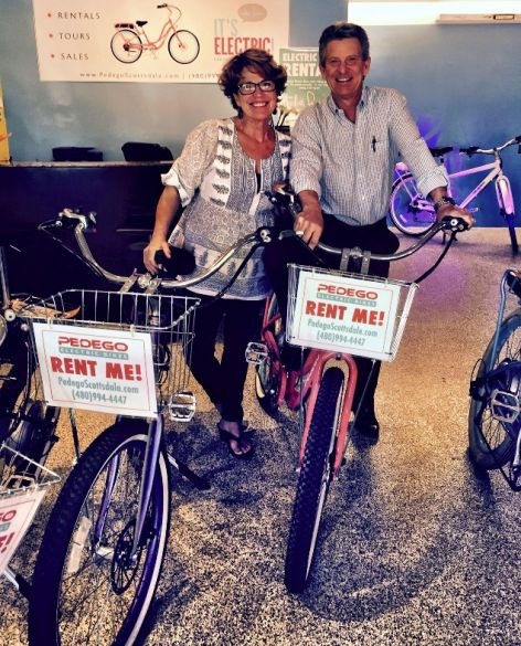 Bill and Kathy Puryear, proud owners of Pedego Scottsdale.