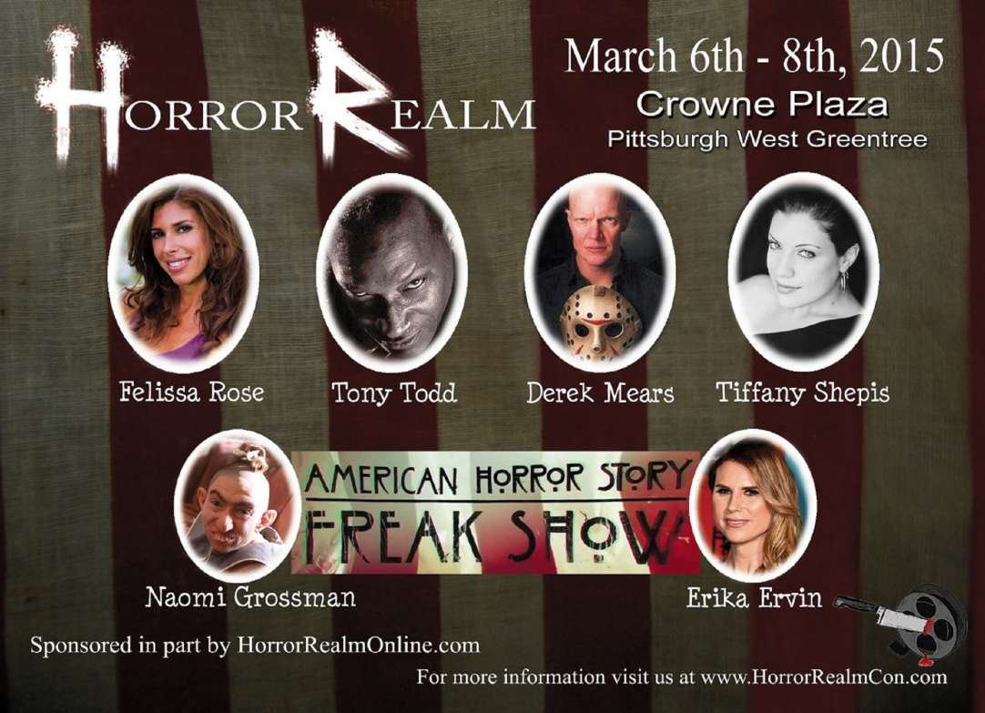 Horror Realm's Spring Convention will be Mar 6-8 in Pittsburgh at a new location
