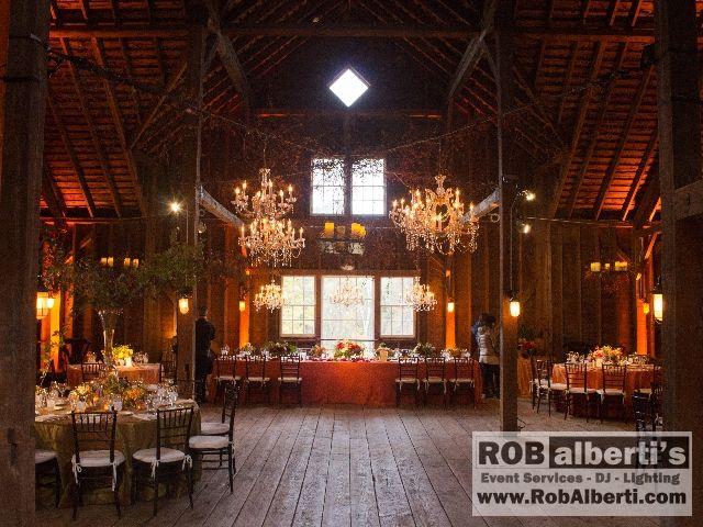 Stonover Farm Lenox MA Wedding Lighting -  www.rob