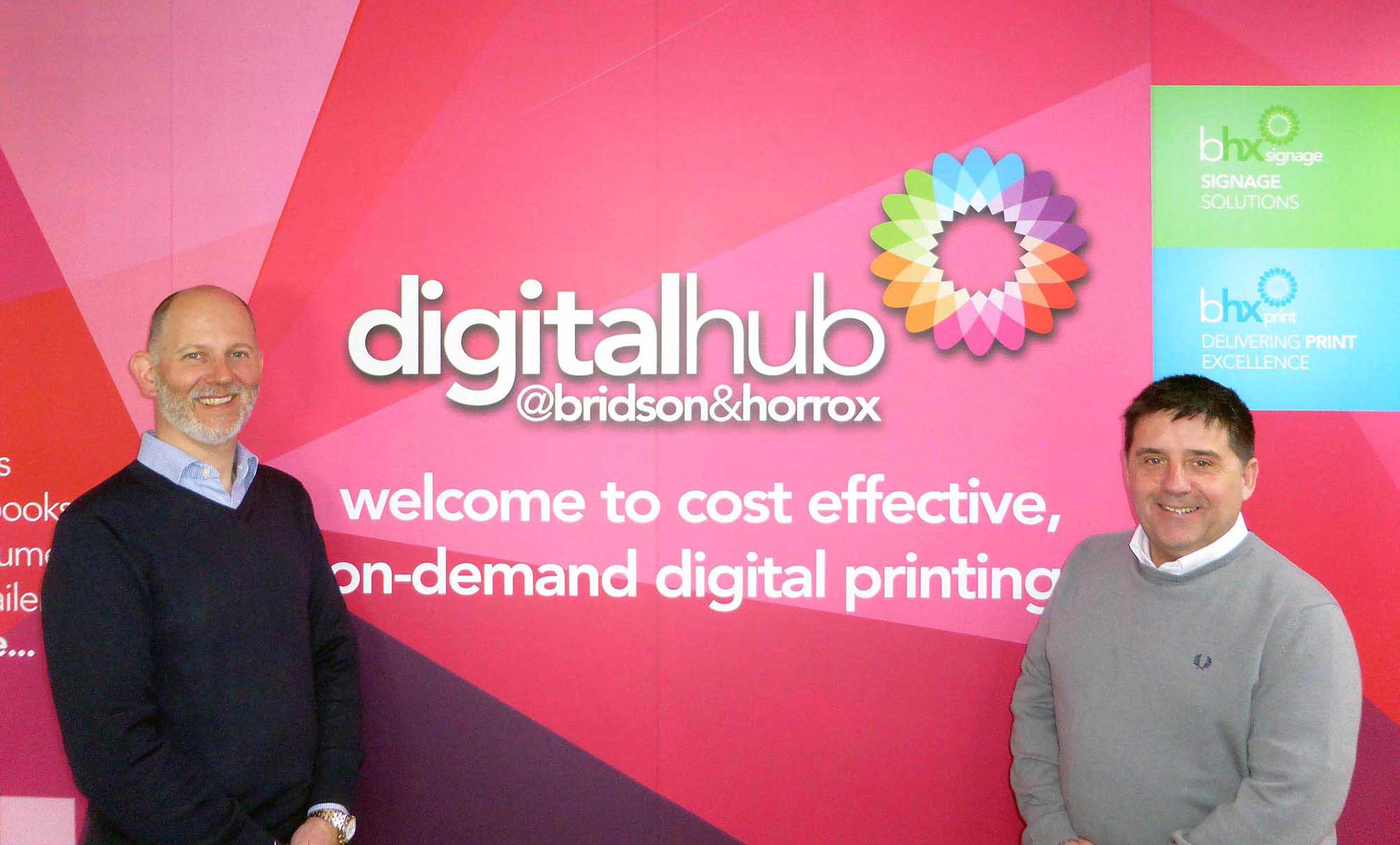 Darren Horrox and Tommy Crowe launch the new Digital Hub.