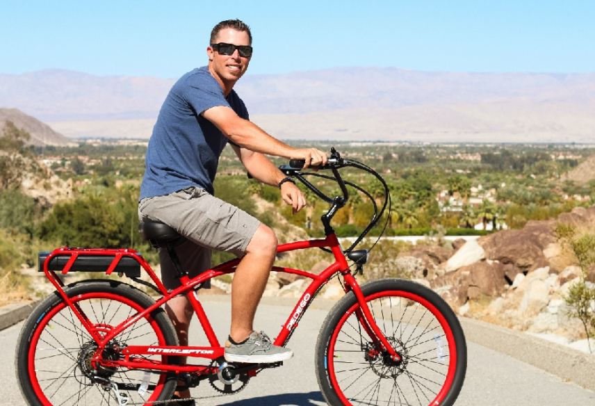 Pedego La Quinta owner Bryan Newman loves sharing this view of Coachella Valley.